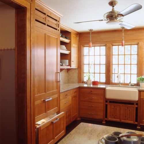 Medium Wood Kitchens: Top 100 Craftsman Kitchen With Medium Tone Wood Cabinets