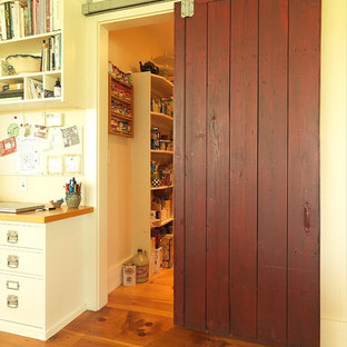 Vintage Red Pantry Door Houzz