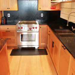 Salvages CVG Fir Kithchen - FSC certified custom cabinets with Soap Stone counter top.