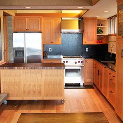 Salvages CVG Fir Kithchen - Custom Fir kitchen Fir cabinets with mobile island.