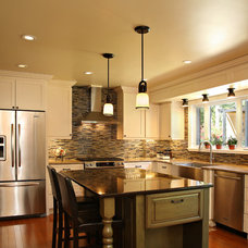 Transitional Kitchen by Sheridan Interiors, Kitchens and Baths