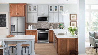Samsung Two-Tone Rustic Kitchen