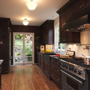 Remarkable Dark Brown Cabinets Houzz Beutiful Home Inspiration Semekurdistantinfo