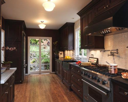 Kitchen Backsplash Dark Cabinets
