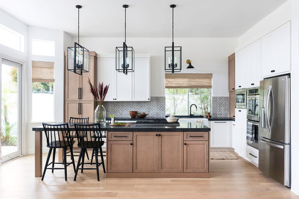 Transitional Kitchen by Jula Cole Design