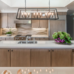 Textured Backsplash Houzz