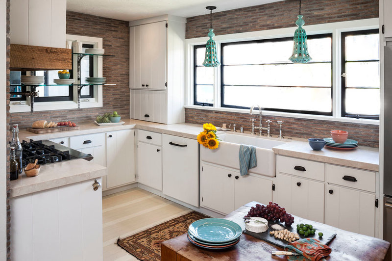 eclectic kitchen by lisa gutow design
