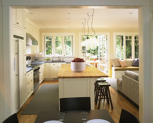 Inspiration For A Contemporary L Shaped Eat In Kitchen Remodel In San Francisco With