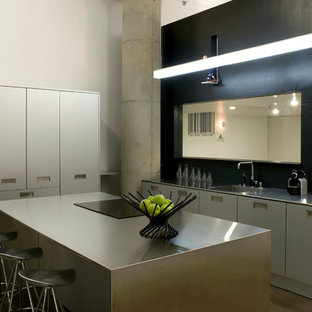 Industrial Kitchen Ideas   Inspiration For An Industrial Galley Kitchen  Remodel In San Francisco With Stainless