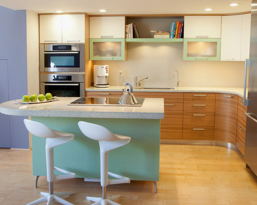 Curved Cabinets | Houzz
