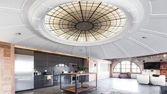 San Francisco Modern Penthouse Kitchen, Closet and Bathroom