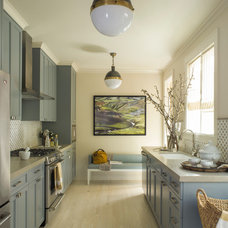 Transitional Kitchen by Angela Free Design