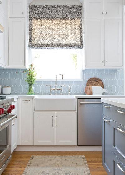 Transitional Kitchen by Megan Bachmann Interiors