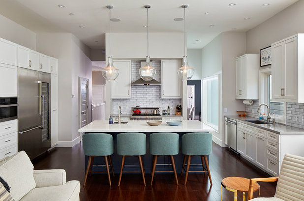 Transitional Kitchen by Lorin Hill, Architect