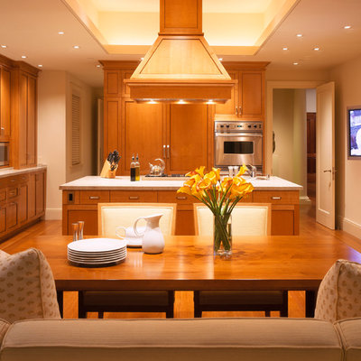 Inspiration for a contemporary open concept kitchen remodel in San Francisco