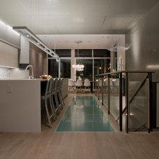 Contemporary Kitchen by Kim Cladas Lighting Design