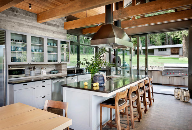 Rustic Kitchen by NB Design Group, Inc