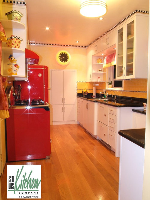 Eclectic 50s retro eat in kitchen design ideas remodel for 50s kitchen ideas