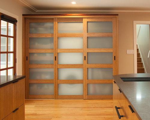 Asian stencil glass door laundry room design ideas for Berkeley mills doors