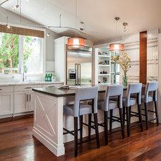 Transitional Kitchen by Rochon Design Studio