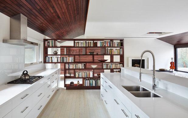 Come dividere la cucina dal soggiorno: idee open space