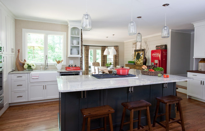 Farmhouse Kitchen by Cristi Holcombe Interiors, LLC