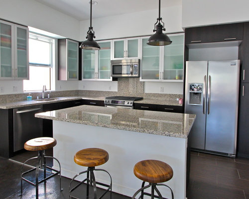 Orange county kitchen design ideas renovations photos with stainless steel cabinets - Modern kitchen cabinets orange county ...