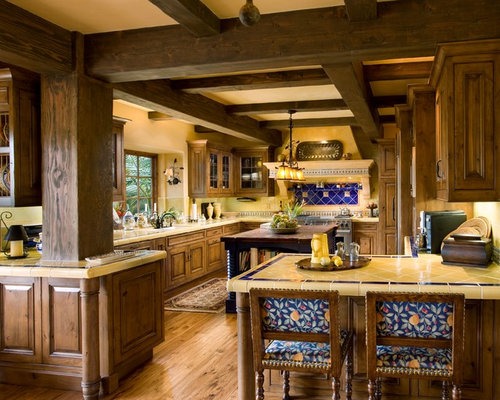 Blue And Yellow Kitchen Houzz