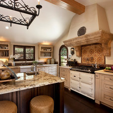 Mediterranean Kitchen by Lindsey Adams Construction Inc.