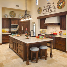 Mediterranean Kitchen by Margaret Dean at Design Studio West