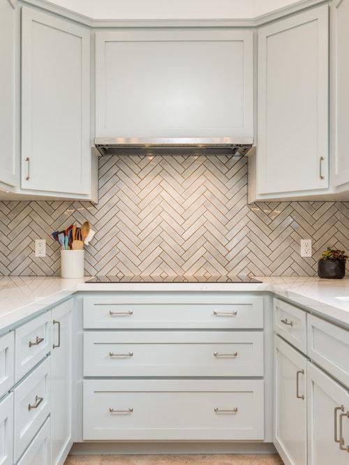 White Kitchen Design Ideas Renovations Photos With Cork Flooring