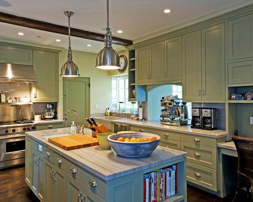 Sage Green Kitchen Cabinets | Houzz
