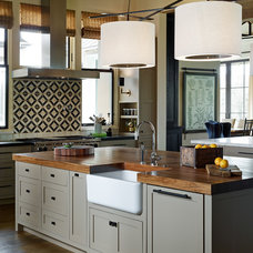 Transitional Kitchen by Jennifer Robin Interiors