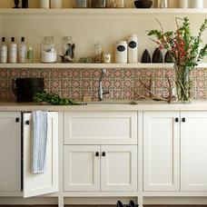 Transitional Kitchen by Jennifer Robin Interiors
