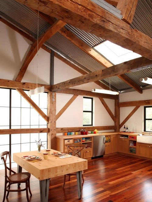 Cathedral Ceiling With Wood Beams Home Design Ideas, Pictures, Remodel and Decor