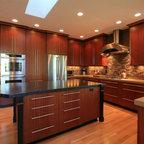 Sapele Kitchen Remodel - Contemporary - Kitchen - Portland ...