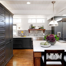 Transitional Kitchen by Atmosphere Interior Design Inc.