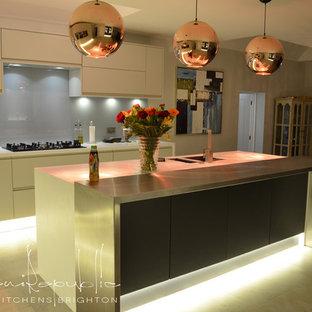 Satin Platinum & Anthracite Kitchen