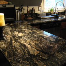 Eclectic Kitchen by Stone Mansion Granite & Marble Ltd.