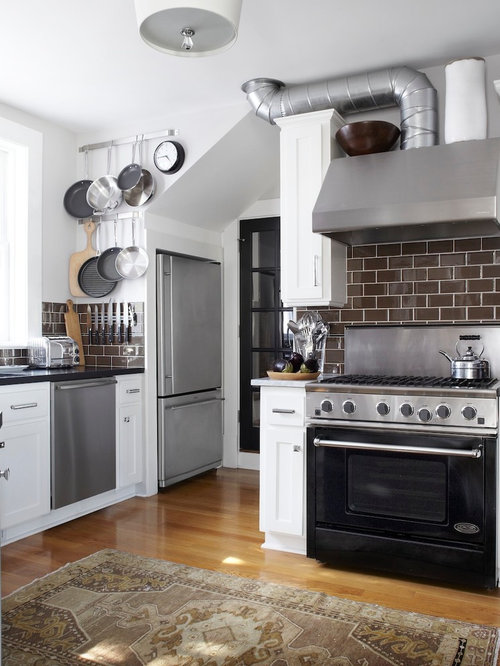 brown subway tile design ideas remodel pictures houzz