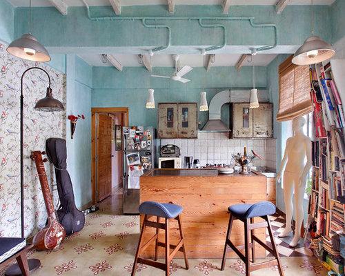 Ideas para cocinas | Fotos de cocinas comedor con salpicadero blanco ...