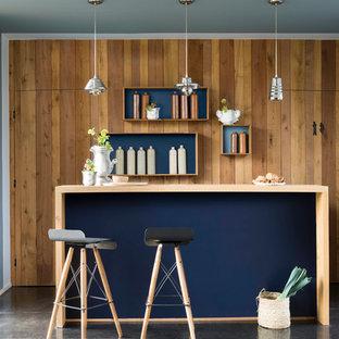 Scandi blue kitchen