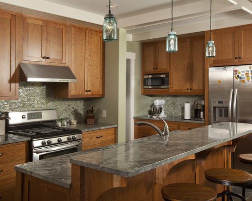 Zimbabwe gray granite kitchen design ideas renovations photos for Kitchen designs zimbabwe