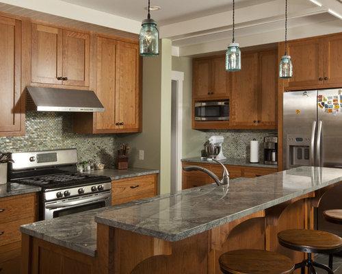 Zimbabwe gray granite kitchen design ideas renovations for Kitchen cabinets zimbabwe