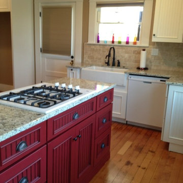 Schuler Cabinetry in Red and White Icing