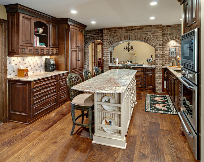 Rustic Kitchen by Knight Construction Design | Chanhassen, Minnesota