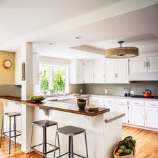 Transitional Kitchen by christie hausmann design