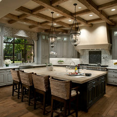 Transitional Kitchen by Vallone Design