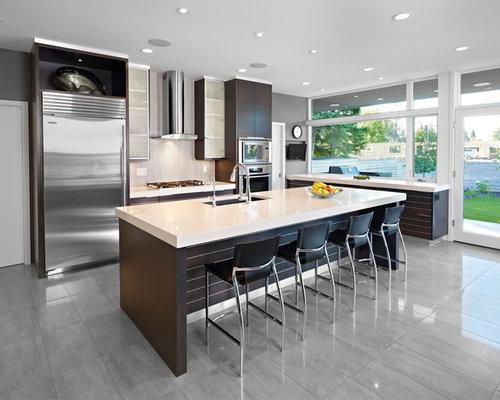 kitchen design edmonton. Modern kitchen ideas  Example of a minimalist gray floor design in Edmonton with stainless 11 Best Kitchen Ideas Designs Houzz