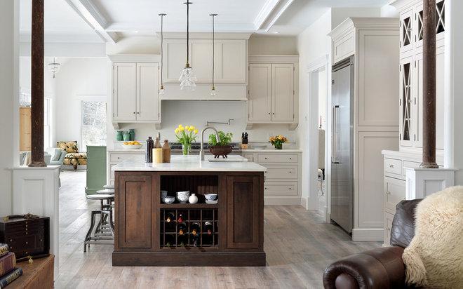 Transitional Kitchen by Kim Smith Photo